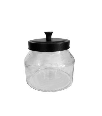 Fab Lab Glass Jar with Black Lid-Small