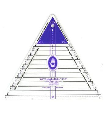 "Large 60 Degree Triangle Ruler (3""-9"" Finished Side)"