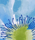 Silky Print Rayon Fabric 53\u0027\u0027-Blue Watercolor Flowers