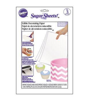 Wilton Sugar Sheets 3/Pkg-White