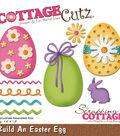 CottageCutz Die-Build An Easter Egg 1.4\u0022X1.9\u0022