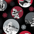 Star Wars: The Force Awakens Fleece Fabric -Stromtroopers in Circles