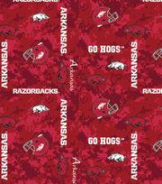 "University of Arkansas Razorbacks Fleece Fabric 60""-Digital, , hi-res"