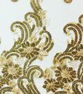 Emb Sequin Swirl Ochre/gold