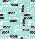 Snuggle Flannel Fabric -Woof Words