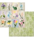BoBunny Cottontail 25 pk 12\u0027\u0027x12\u0027\u0027 Double-Sided Cardstock-Springtime