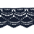 Simplicity Trims-3.4\u0022 Knit Lace Navy