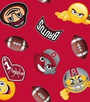 "Ohio State University Buckeyes Fleece Fabric 60""-Emoji, , hi-res"
