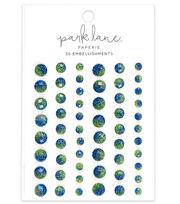Park Lane Paperie 56 pk Bling Embellishments-Green & Blue, , hi-res