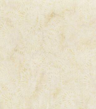 Premium Cotton Batik Fabric-Bead Flowers