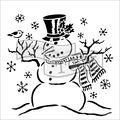 The Crafter\u0027s Workshop Carmen Medlin 6\u0027\u0027x6\u0027\u0027 Stencil-Mr. Snowman