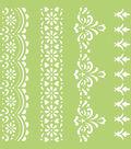 Kaisercraft 6\u0027\u0027x6\u0027\u0027 Designer Template-Lace Borders