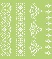 Kaisercraft 6''x6'' Designer Template-Lace Borders, , hi-res