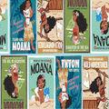 Disney Moana Cotton Fabric -Badges