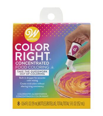 Wilton Color Right Perfect Color System-8/pkg