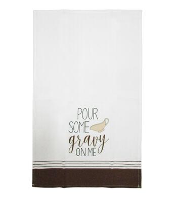 Simply Autumn Cotton Tip Towel-Pour Some Gravy on Me