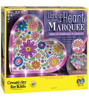 Creativity For Kids Light-Up Marquee Kit-Heart, , hi-res