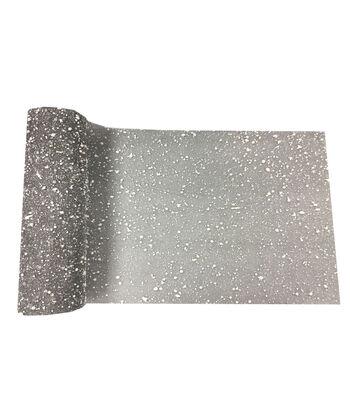 Maker's Holiday Christmas Mesh Ribbon 10.5''x15'-Snow on Silver