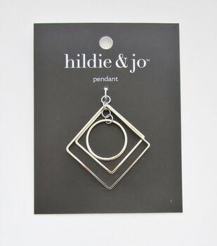 hildie & jo Square & Round Pendant-Silver