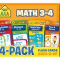 School Zone 4 pk Math 3-4 Flash Cards