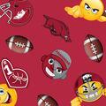University of Arkansas Razorbacks Fleece Fabric -Emoji