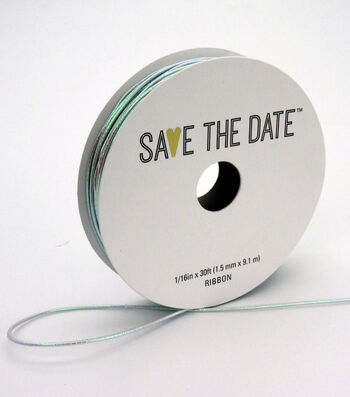 """Save the Date 1/16"""" x 30ft Mini Cord-Irridescent"""