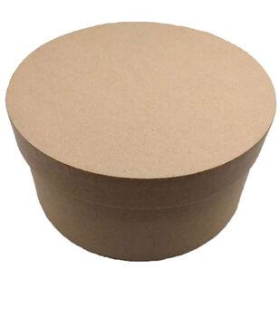 Small Round Photo Storage Box-Kraft