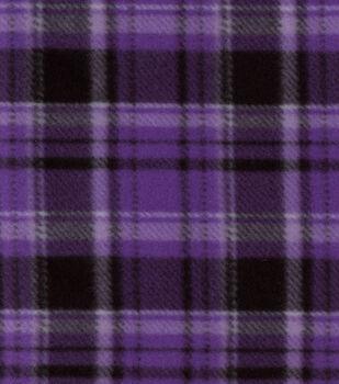 Blizzard Fleece Fabric-Purple Hadley Plaid