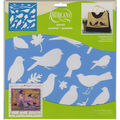 DecoArt Americana 12\u0027\u0027x12\u0027\u0027 Stencil-Feathered Friends