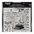 Prima Marketing Art Daily Planner 30 pk Cling Stamps-Carte Postale