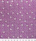 Metallic Flannel Fabric-Purple Metallic Heart