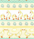 Nursery Cotton Fabric -Ducks In Line