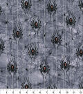 Halloween Cotton Fabric 43\u0022-Bewitched Spiders Glitter