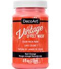 DecoArt Vintage Effect Wash 8 fl. oz. Color Wash Paint-Red Orange