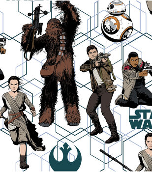 Star Wars: The Force Awakens Cotton Fabric -Heroes