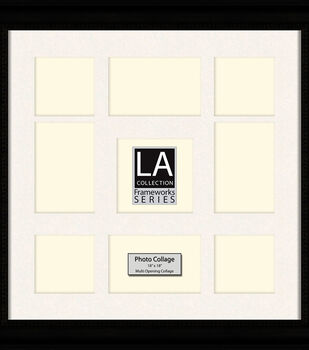 LA Collection Multi-Opening Collage Frame 18x18-Black/Cream