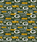 Green Bay Packers Cotton Fabric-Distressed