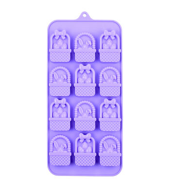 Easter 8.25''x4'' 12-cavity Silicone Candy Mold-Basket