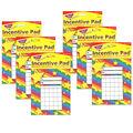 Stars Incentive Pad, 36 Sheets Per Pad, Pack of 6
