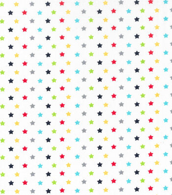 "Nursery Cotton Fabric 43""-Transport Stars"