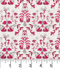 Christmas Cotton Fabric -Deers and Birds