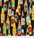 Novelty Cotton Fabric 44\u0027\u0027-Brewery Beer Bottles