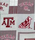 Texas A&M University Aggies Fleece Fabric -Gray Block