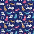 Snuggle Flannel Fabric-Puppycorns and Rainbows