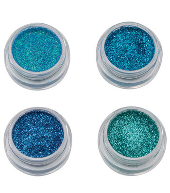 Maker's Halloween Metallic Glitter Makeup Set-Peacock