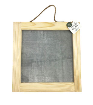 """Simply Spring Craft 12""""x12"""" Cement Wood Frame Sign"""