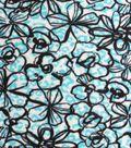 72\u0022 No Sew Throw- Floral Skin