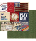 Play Ball Double-Sided Cardstock 12\u0022X12\u0022-Grand Slam