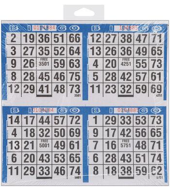 "Primo Bingo Game Sheets 8""X8"" 125/Pkg"