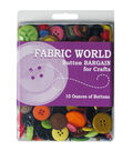 Fabric World 10 oz Bargain Buttons for Crafts